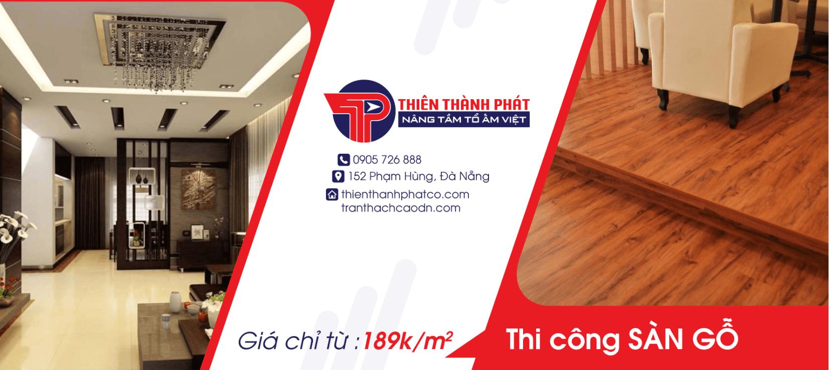 Thi công sàn gỗ giá từ 189k/m2
