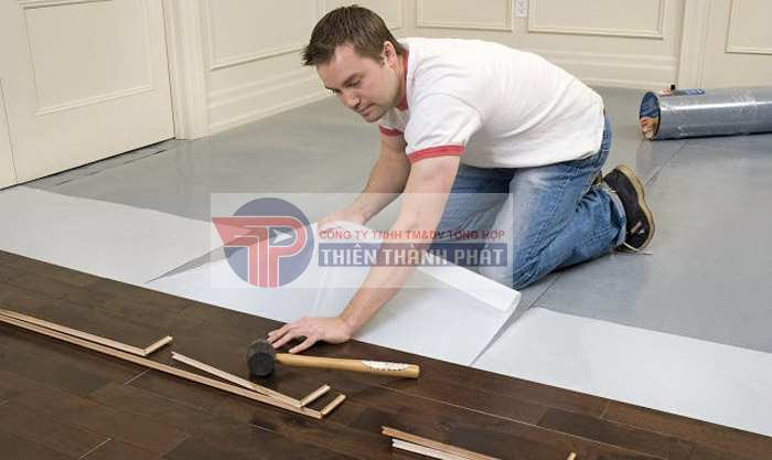 Quá trình triển khai thi công lắp đặt sàn gỗ công nghiệp không đạt chuẩn, sai kỹ thuật