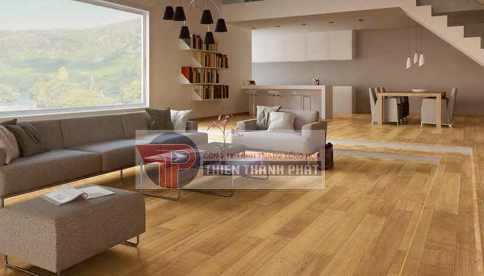 Với sàn gỗ công nghiệp phòng khách hãy lựa chọn những loại sàn gỗ công nghiệp có độ cứng cao
