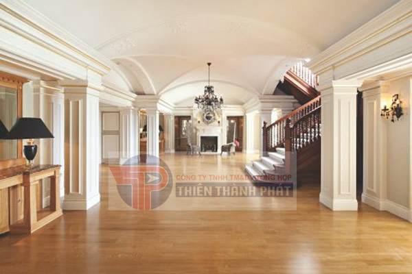 Nên sử dụng các loại sàn gỗ công nghiệp có độ chịu lực cao, chỉ số AC có thể đạt mức AC4, AC5