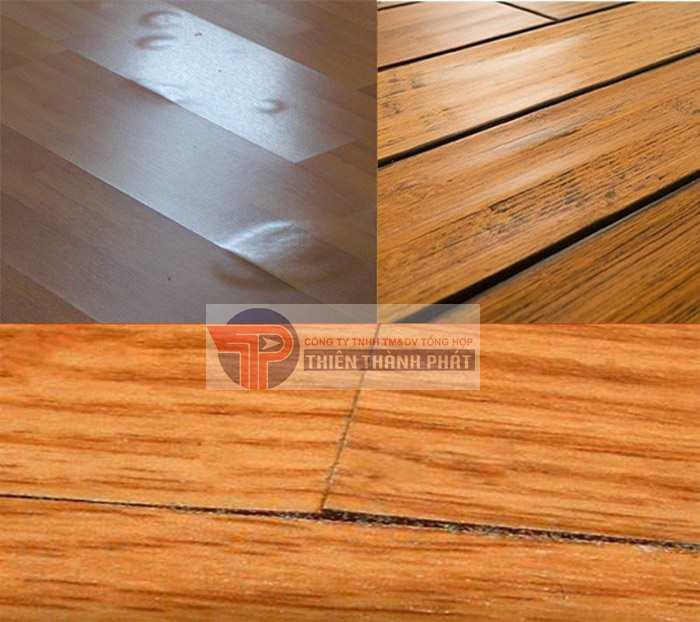 Nếu gặp phải thời tiết có độ ẩm không khí cao trong thời gian dài, sàn gỗ công nghiệp rất dễ bị phồng rộp