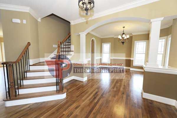 Sử dụng sàn gỗ công nghiệp cho không gian nhà thêm sang trọng