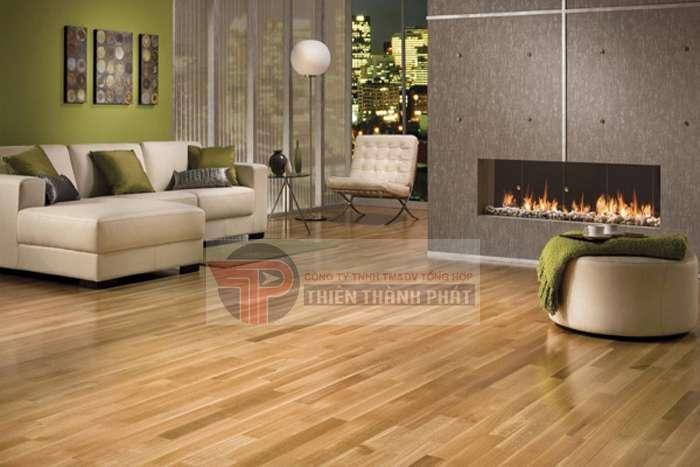 Sàn gỗ công nghiệp có thời gian thi công tương đối ngắn bởi chúng có tính cơ động cao