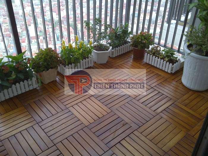 Thiết kế màu sắc ván gỗ trùng với nội thất