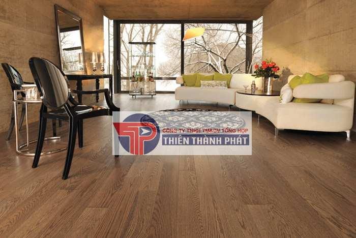 Sàn gỗ công nghiệp là loại vật liệu có mức giá thành rất hợp lý, phong phú với các mức giá từ thấp tới cao