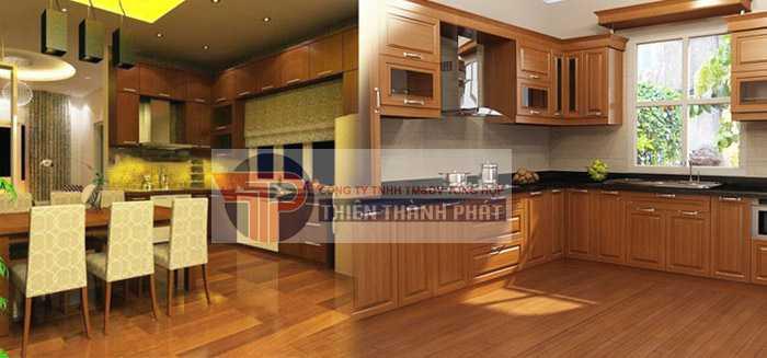 Sàn gỗ công nghiệp cho nhà bếp sẽ rất dễ bị bẩn trong quá trình sử dụng