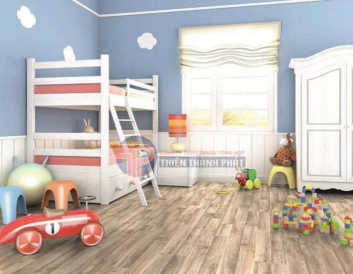 Sử dụng sàn gỗ công nghiệp cho không gian phòng thêm thoải mái