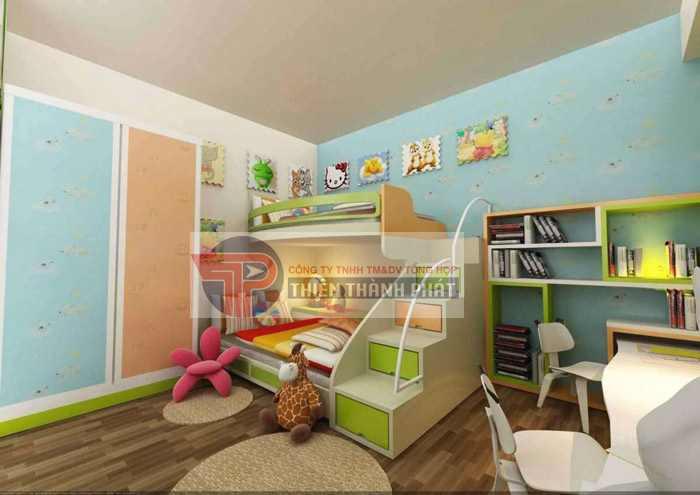Sàn gỗ công nghiệp cho phòng ngủ của trẻ phải là sản phẩm an toàn