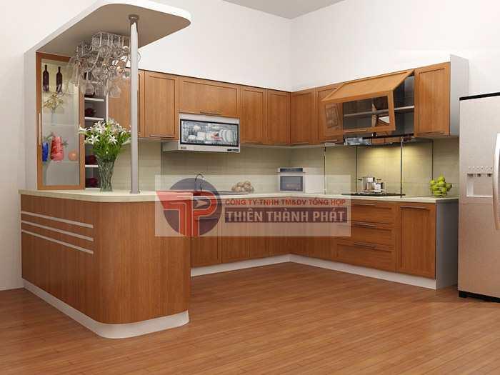 Lắp đặt sàn gỗ công nghiệp nhà bếp tại Đà Nẵng