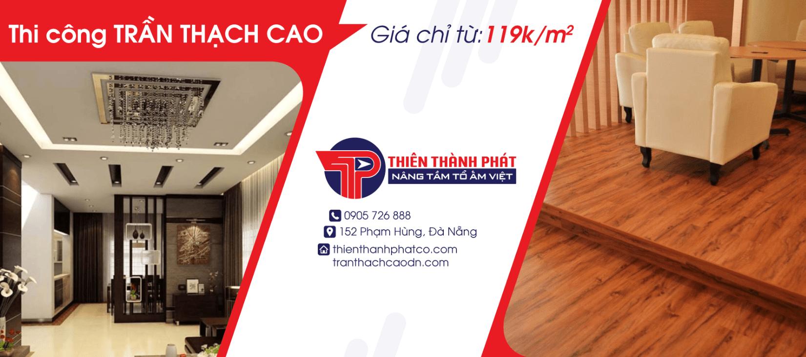 Dịch vụ thi công trần thạch cao Đà Nẵng Thiên Thành Phát