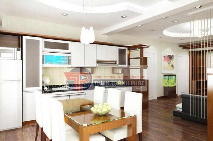 Thi công trần thạch cao cho phòng ăn cần đảm bảo được cả hai yếu tố thẩm mỹ và bền lâu