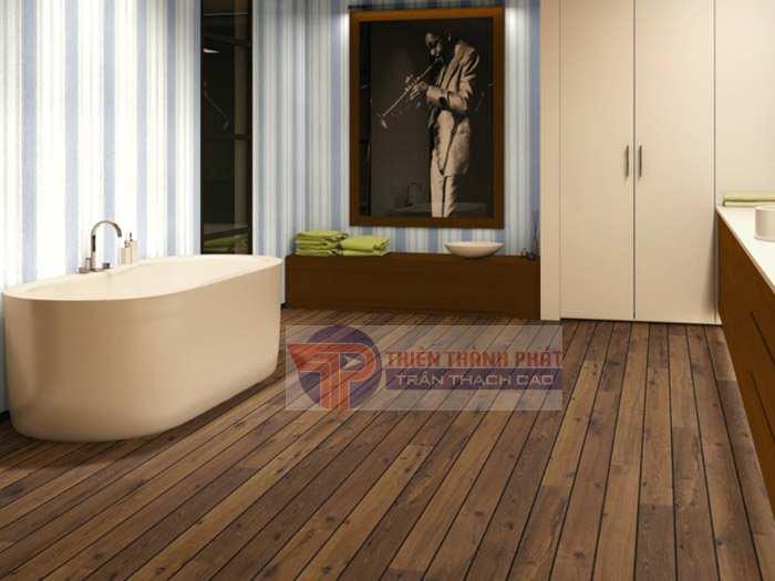 Sử dụng sàn gỗ công nghiệp cho phòng tắm