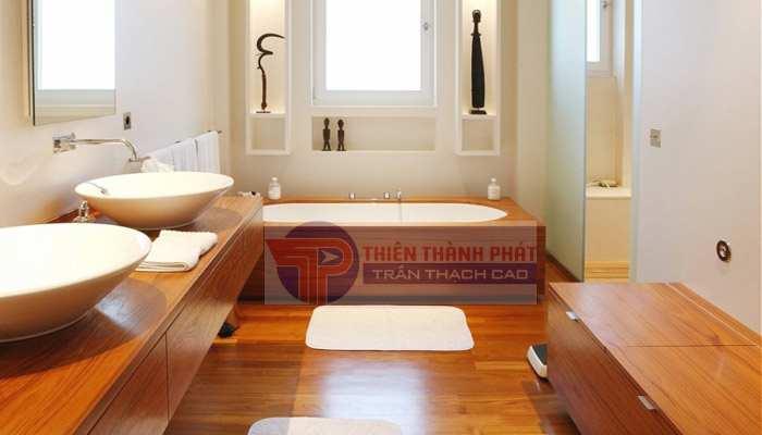 Sàn gỗ công nghiệp phòng tắm trước hết phải đạt được tiêu chí là có khả năng chịu nước tốt