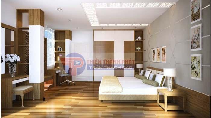Không gian phòng ngủ cần sự yên tĩnh thư thái để dễ đi vào giấc ngủ