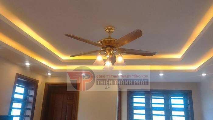 Chiều cao trần nhà lý tưởng nhất để lắp đặt quạt trần là khoảng 2,5 m – 3 m