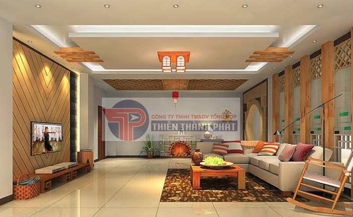 Trần thạch cao giật cấp phòng khách có nhiều ưu điểm vượt trội