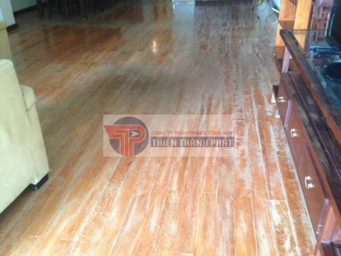 Thông thường nấm mốc sẽ xuất hiện tại các khe hở, kẽ hở trên sàn gỗ công nghiệp