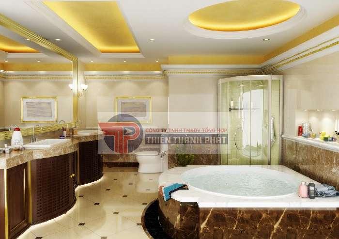 Không gian phòng tắm thoải mái và đẹp hơn với vách thạch cao