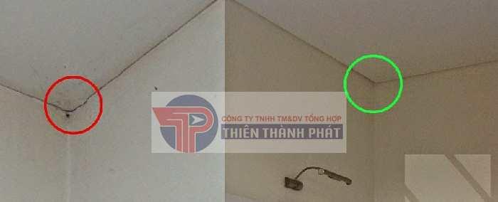 Trần thạch cao bị nứt ở các vị trí mối nối hoặc nứt tại vị trí nối giữa trần và tường