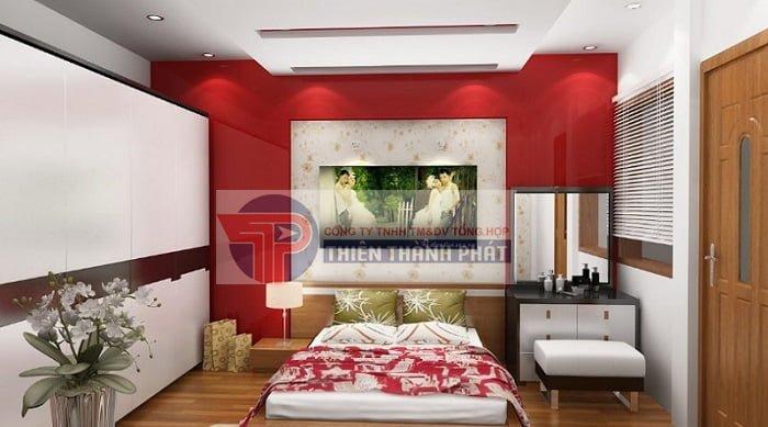 Sử dụng vách thạch cao cho không gian phòng ngủ