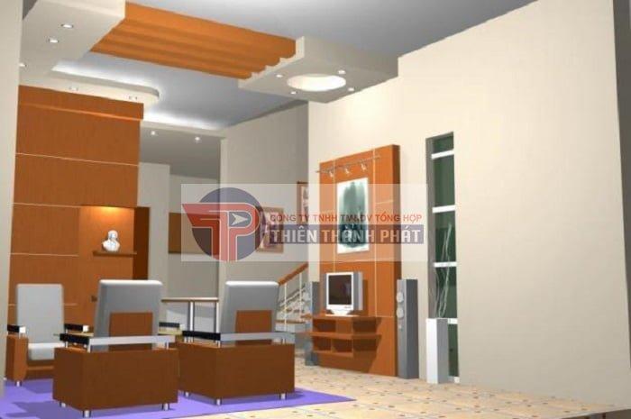 Với những không gian phòng lớn nên sử dụng nhiều vách thạch cao để tụ khí cho ngôi nhà