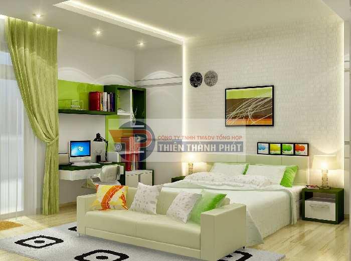 Vách thạch cao góp phần đem đến một không gian phòng ngủ thoải mái và thư giãn nhất