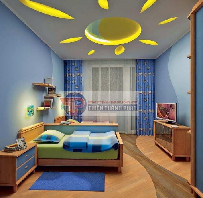 Trang trí trần thạch cao cho phòng ngủ của trẻ