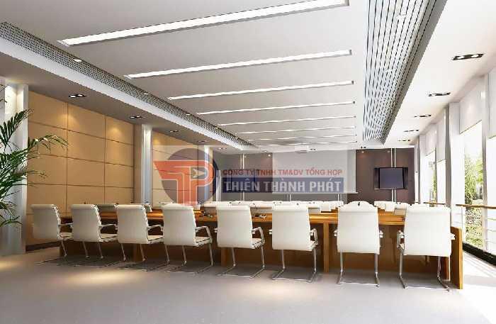 Trần thạch cao tiêu âm sử dụng trong phòng họp