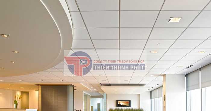 Trần thạch cao nổi có ưu điểm dễ thi công, lắp đặt